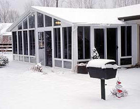 sunroom in the snow