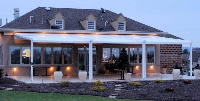 Pergola Awnings. Retractable Weatherproof Awning Structure