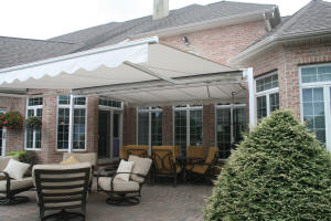 ... Free Standing Retractable Awning